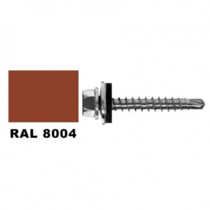 Farmer screw RAL 8004 self drilling for wood 4.8x35 mm pack 20 pcs.