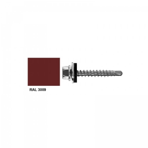 Farmer screw RAL 3009 self drilling for wood 4.8x25 mm pack 20 pcs.