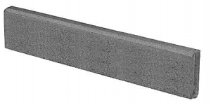 BerdingBeton Round Top Paving Edging 6x25x100 cm, gray