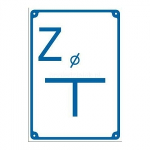 "Warning sign water ""Z"""